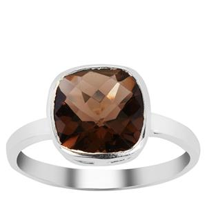 Smokey Quartz Ring in Sterling Silver 2.25cts