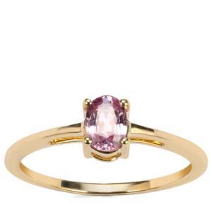 Sakaraha Pink Sapphire Ring in 10K Gold 0.57ct