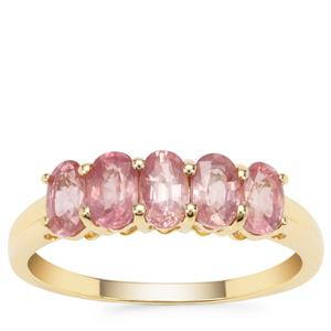 Padparadscha Sapphire Ring in 9K Gold 1.63cts