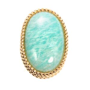 Amazonite Sarah Bennett Ring in 14K Gold Tone Sterling Silver 25.65cts