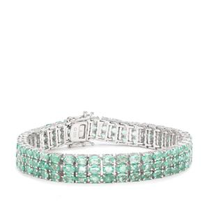 Zambian Emerald Bracelet in Sterling Silver 19.97cts