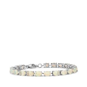 Ethiopian Opal Bracelet in Sterling Silver 10.19cts