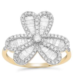 Diamond Ring in 9K Gold 1.12cts