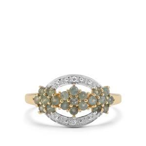 Alexandrite & Diamond 9K Gold Ring ATGW 0.57ct