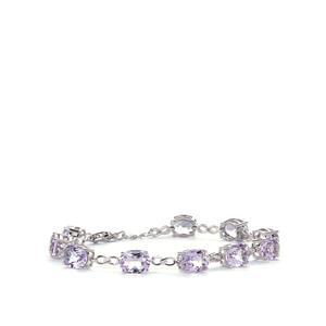18.15ct Rose De France Amethyst Sterling Silver Bracelet