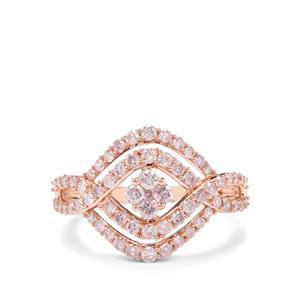 1ct Pink Diamond 9K Rose Gold Tomas Rae Ring