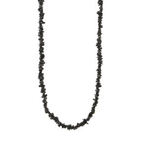 Black Tourmaline Nugget Bead Necklace 450cts