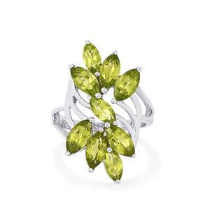 4.57ct Changbai Peridot Sterling Silver Ring