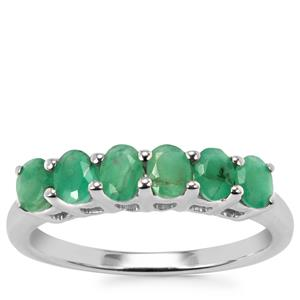 Carnaiba Brazilian Emerald Ring in Sterling Silver 0.97cts