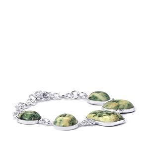 Siberian Mariposite Bracelet in Sterling Silver 59.54cts