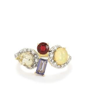 2.06ct Harlequin 9K Gold Ring