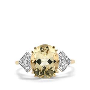 Serenite & Diamond 10K Gold Ring ATGW 3.33cts