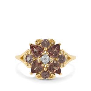 Bekily Colour Change Garnet & White Zircon 9K Gold Ring ATGW 1.80cts