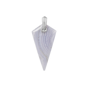 Blue Lace Agate Pendant in Sterling Silver 37.55cts
