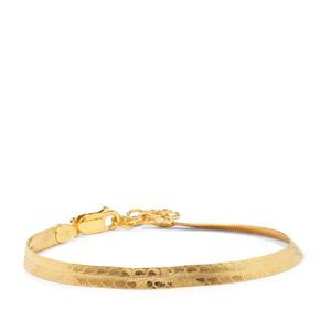 "7"" Midas Altro Diamond Cut Herringbone Bracelet 3.83g"