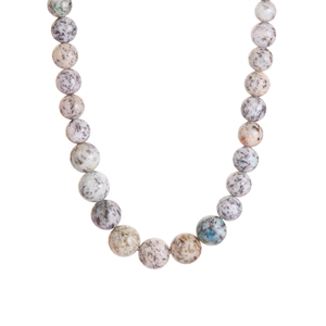 165.70ct K2 Azurite Sterling Silver Graduated Necklace