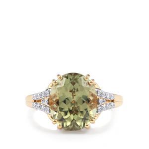 Csarite® & Diamond 18K Gold Lorique Ring MTGW 5.93cts