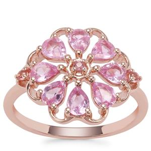 Sakaraha Pink Sapphire Ring with Pink Tourmaline in 9K Rose Gold 1.07cts