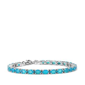 8.29ct Blue Opal Sterling Silver Bracelet