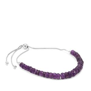 Zambian Amethyst Graduated Inspired By Colour Slider Bracelet in Sterling Silver 17cts