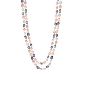 Multicolor Kaori Cultured Pearl Necklace (7 x 6mm)