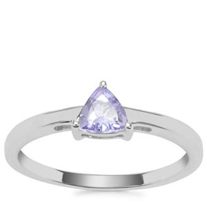 Bi Colour Tanzanite Ring in Sterling Silver 0.38ct
