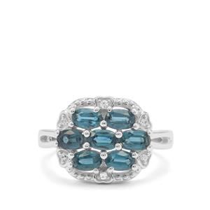 Orissa Kyanite Ring with White Zircon in Sterling Silver 2.19cts
