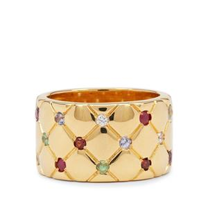 Kaleidoscope Gemstones in Gold Plated Sterling Silver 0.85ct