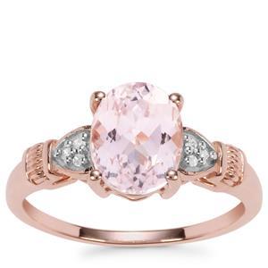 Kolum Kunzite Ring with Diamond in 9K Rose Gold 2.62cts