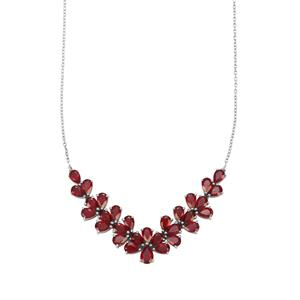 Malagasy Ruby Necklace in Sterling Silver 19.52cts (F)