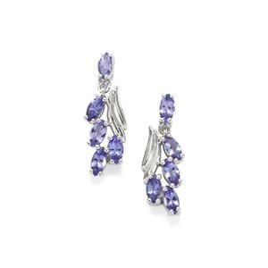 2.08ct Tanzanite Sterling Silver Earrings