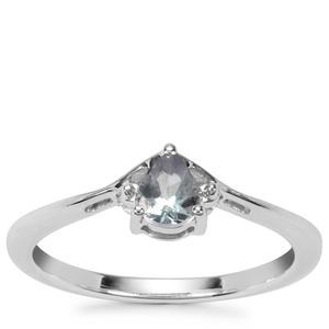 Bi Colour Tanzanite Ring in Sterling Silver 0.29ct