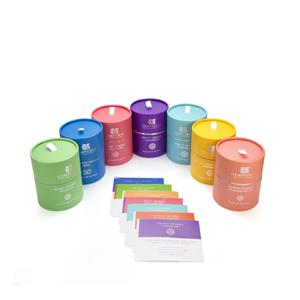 Chakra Range - Complete Set of Chakra Candles with Affirmation Stickers ATGW 141cts