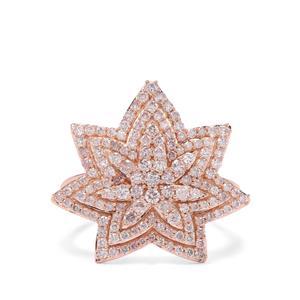 1.03ct Pink Diamond 9K Rose Gold Tomas Rae Ring