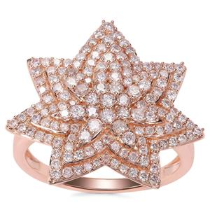 Pink Diamond Ring in 9K Rose Gold 1.03cts