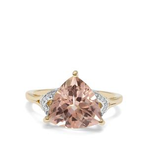 Galileia Topaz Ring with Diamond in 9K Gold 5.08cts