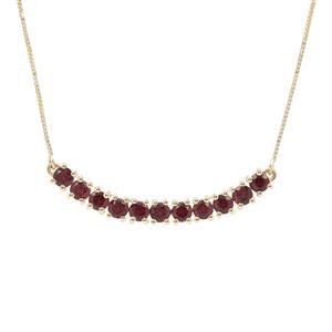 Malaya Garnet Necklace in 9K Gold 2.50cts