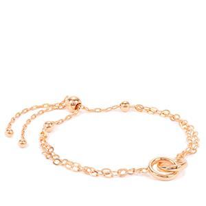 """10"""" Rose Midas Altro Multi Strand Station Slider Bracelet 3.14g"""