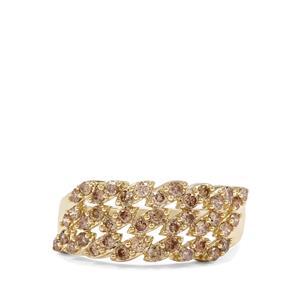 3/4ct Champagne Diamond 9K Gold Tomas Rae Ring