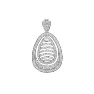 Argyle Diamond Pendant in 9K White Gold 1cts