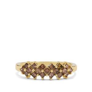 Champagne Diamond Ring in 9K Gold 0.51ct