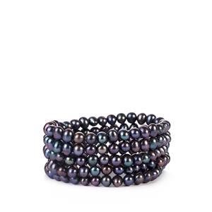 Kaori Cultured Pearl Elastic Bracelet (7 x 6mm)