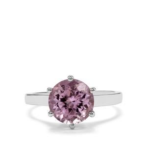 3.59ct Minas Gerais Kunzite Sterling Silver Ring
