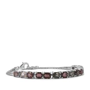 13.86ct Burmese Multi-Colour Spinel Sterling Silver Bracelet