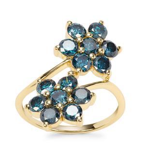 Blue Diamond Ring in 9K Gold 2.57ct
