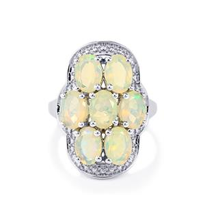 3.32ct Ethiopian Opal Sterling Silver Ring