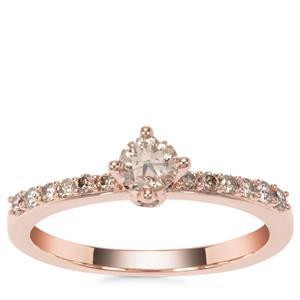 Argyle Diamond Ring in 18K Rose Gold 0.54ct