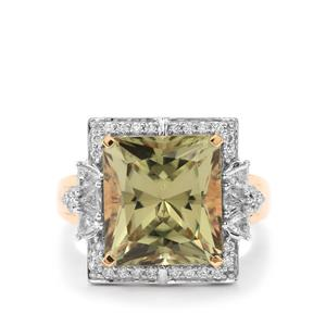 Csarite® Ring with Diamond in 18k Gold 8.86cts