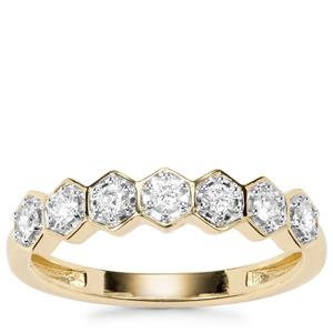 Canadian Diamond Ring in 18K Gold 0.26ct