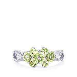 Ultraviolet Colour Change Garnet & Diamond 9K White Gold Ring ATGW 1.12cts